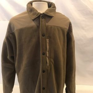 ORVIS TAN FLEECE POLYESTER JACKET  L